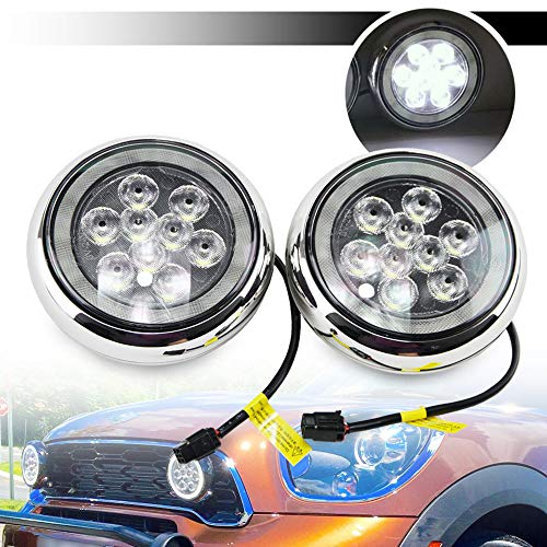 Luce da rally LED DRL per Mi-ni-Cooper R55 R56 R57 R58 R60 R61 F56 Led Rally Driving Light con anello Angel Eyes DRL Black Shell Daylight Kits