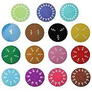 SunniMix 15/32 Stück Bruchkreise Magnete Und Ressourcen für Lernspielzeug - 15Pcs
