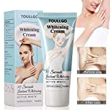 Underarm Whitening Cream, Lightening Cream, Natural Skin Bleaching Cream with Vitamin C Effective for Lightening & Brightening Armpit, Knees, Elbows Neck, Dark Spots, Private Areas, 60g