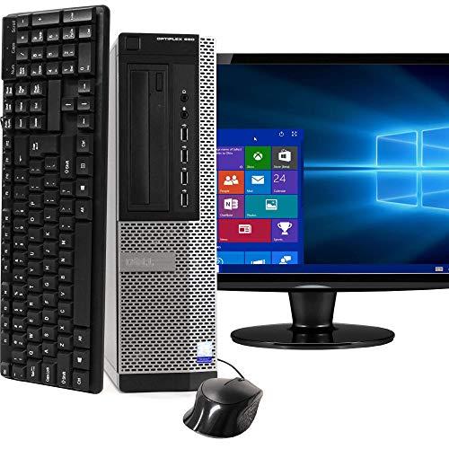 Dell Optiplex 990 SFF PC, Intel Core i5 Processor, 16GB RAM, 2TB HDD, DVDRW, Keyboard & Mouse, Wi-Fi, Bluetooth 4.0, Windows 10 Home, 20in LCD Monitor (Renewed)