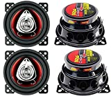 BOSS CH4220 4' 2-Way 400W Car Audio Coaxial Speakers Stereo Red 4 Ohm
