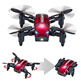 Pliable Mini Drone avec Mode de Maintien en Altitude 2.4Ghz 6 Axes...