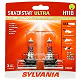 SYLVANIA - H11B SilverStar Ultra - High Performance Halogen Headlight Bulb, High Beam, Low Beam and Fog Replacement Bulb, Brightest Downroad with Whiter Light, Tri-Band Technology (Contains 2 Bulbs)