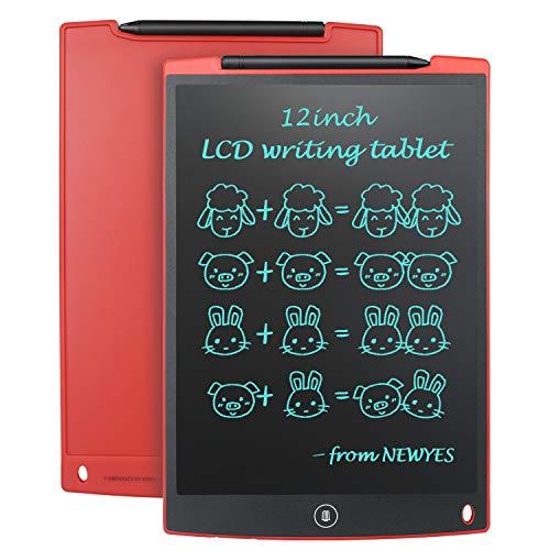 NEWYES NYWT120 Tavoletta LCD da Disegno con Stilo, 12 Pollici di Lenghezza, Vari Colori(Rosso)