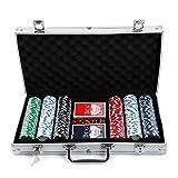 MultiWare 300 Pcs Jetons De Poker Jeu De Casino Malette En Aluminium...