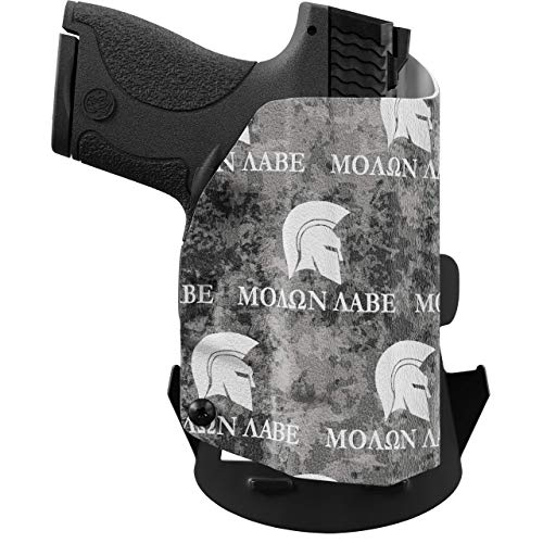 We The People Holsters - Molon Labe - Right Hand Outside Waistband Concealed Carry Kydex OWB Holster Compatible with Springfield Hellcat 3' Micro-Compact 9mm OSP RDS