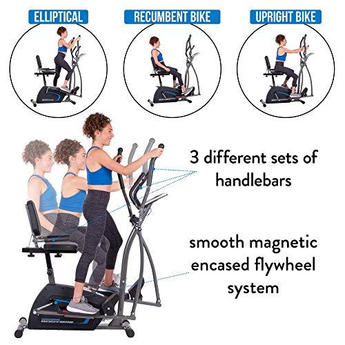 Body Champ 3-in-1 Exercise Machine, Trio Trainer, Elliptical and Upright Recumbent Bike 5