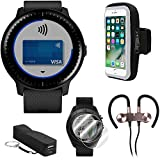 Garmin Vivoactive 3 Music GPS Smartwatch (Black with Silver Hardware) Runner Pro Bundle with Smartphone Armband Holder, Portable Power Bank, Screen Protector, and Sport Wireless Earbuds 010-01985-01