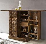 Driftingwood Sheesham Wood Bar Cabinet for Living Room | Wine Storage | Brown