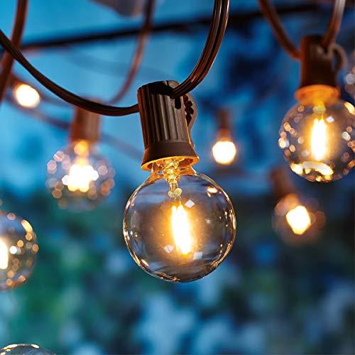 Catene luminose Esterno,[LED Versione] OxyLED G40 9metri 25+1 lampadine luci all'aperto Della Corda del Giardino del Patio, Luci Decorative del Corda,Luci di Natale del Terrazzo del Giardino
