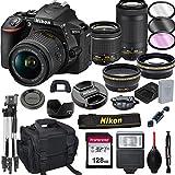 Nikon D5600 DSLR Camera with 18-55mm VR and 70-300mm Lenses + 128GB Card, Tripod, Flash, ALS Variety...