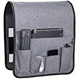 Anti Slip Couch Caddy - Works Where Others Don't, Holds 10lbs w/Hook & Loop Fastener, Easily Holds up to 12' Laptop, TV Remote, Magazines, Best Solution for Max Load Capacity, Armchair Caddy(14x 35)