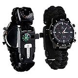 Survie paracord Bracelet de survie d'urgence, Hommes & Femmes horloge...