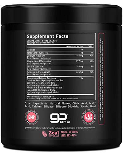 Pure Exogenous Ketones BHB Powder | Cherry Limeade (13g | 22 Servings) Best Tasting Keto Drink with BHB Salts Beta Hydroxybutyrate Supplement - Keto Powder for Weight Loss, Energy & Ignite Ketosis 6