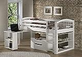Alaterre Dylan Loft Storage Bed, Twin, White
