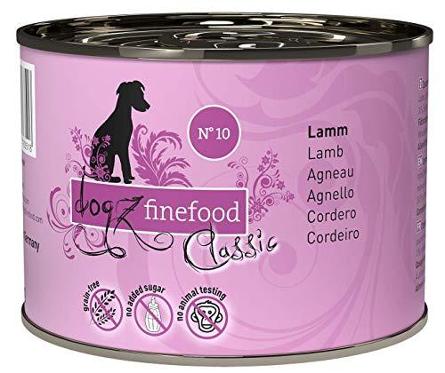dogz finefood Hundefutter nass - N° 10 Lamm - Feinkost Nassfutter für Hunde &...