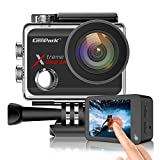 Campark X30 Action Camera Native 4K 60fps 20MP WiFi with EIS Touch Screen Waterproof Camera 40M, 2x1350mAh Batteries and Professional Accessories Compatible with gopro