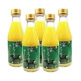 沖縄名産 山原(ヤンバル) シークワーサー 果汁100% 300ml × 5本セット