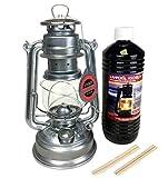 Feuerhand 276 Lanterne en acier galvanisé, 1 l d'huile de lampe, 2...