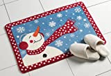Collections Etc Frosty Winter Snowman Bath Rug