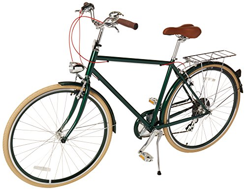 Retrospec Bicycles Diamond Frame Sid-7 Hybrid Urban Commuter Road Bicycle, Green, Small/50cm