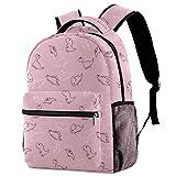 Mochila colorida con patrón de limón, mochila de viaje, informal, para mujeres, adolescentes, niñas y niños.