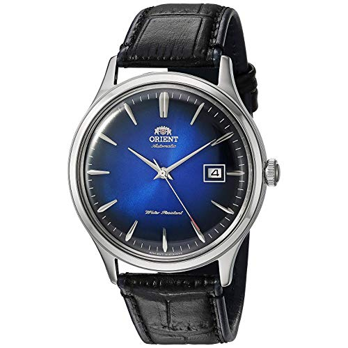 Orient Unisex Erwachsene Analog Automatik Uhr mit Leder Armband FAC08004D0