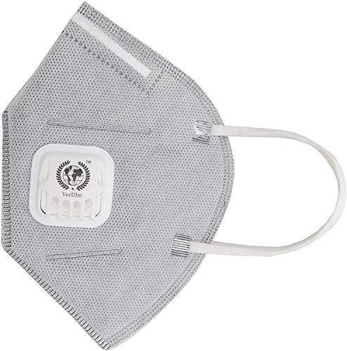 VeeDInt maschera usa e getta antipolvere e anti inquinamento con carbone attivo   95% filtrazione, certificato FFP2, PM 2.5 CE0865