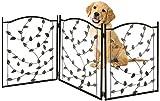 Bundaloo Freestanding Metal Folding Pet Gate | Large Portable