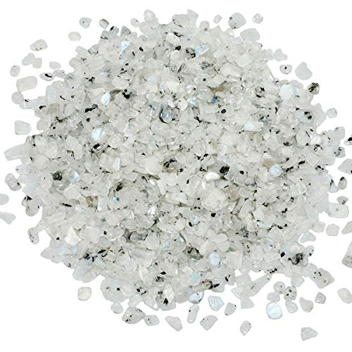 SUNYIK Moonstone Tumbled Chips Crystal Crushed Pieces...