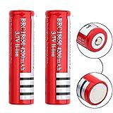 18650 Batterie Rechargeable Pile Batterie 18650 Li-ion 3.7V BRC 4200mAh 1200...