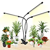 LED Grow Lights, HitLights 3 Head Plant Grow Lights, 10 Dimmable Levels Full Spectrum Clip Plant...