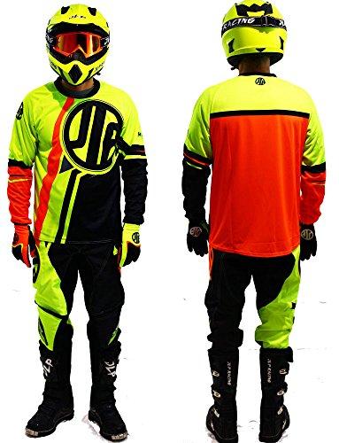 Tuta per bambini di 5-6 anni, per motocross, quad, MTB, BMX - pantaloni con maglia e guanti, colore:...