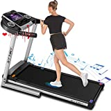 SYTIRY Treadmill with Screen,Treadmills for Home with 10' HD tv Touchscreen&WiFi Connection,3.25hp Motor, Folding Exercise Equipment Machine with Workout Program, Hydraulic Drop