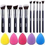 Marca Amazon - Eono Makeup Brush Set Premium sintético Kabuki Foundation Powder Blush ...