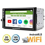 Ezonetronics Android Double Din Car Stereo Radio 7 Inch Touch Screen in Dash GPS Navigation Support WiFi Bluetooth Mirror Link SWC OBD Without Backup Camera