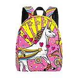 Bolsa grande para portátil de fiesta, diseño de unicornio, color rosa, para colegio, para niñas, ligera, bolsa de viaje, mochila para portátil, para niños, hombres y mujeres