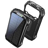 Batterie Externe 26800mAh Chargeur Solaire Portable Power Bank avec 3 Voies...