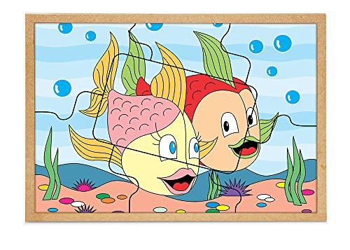Quebra-Cabeça Casal Peixes Carlu Brinquedos