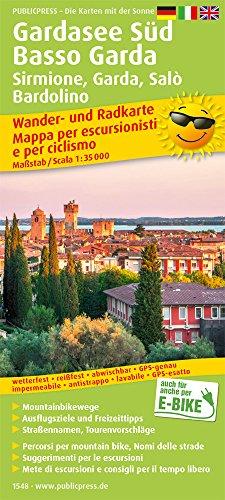 Gardasee Sd, Basso Garda, Sirmione, Garda, Sal, Bardolino 1: 35 000: Wander- und Radkarte mit Ausflugszielen & Freizeittipps