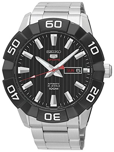 Lorus Herren-Armbanduhr XL Sport Analog Quarz Leder RH961DX9