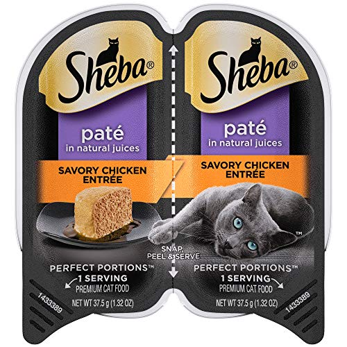 SHEBA-PERFECT-PORTIONS-Soft-Wet-Cat-Food-Pate-in-Natural-Juices-Signature-Savory-Chicken-Entree-24-26-oz-Easy-Peel-Twin-Pack-Trays