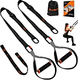 QonQuill Bodyweight Resistance Training Kit for Full Body Workouts - Fitness Straps Workout Equipment (Basic Black)