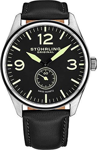 Stuhrling Original 931.03 Herren-Armbanduhr Analog Quarz Leder