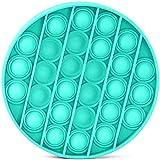Push pop pop Bubble Sensory Fidget Toy, Giocattoli per Alleviare lansia Antistress per Autismo Giocattoli Educativi Estrusione per Bambini, 15,8 * 15,8 cm, Ciano Rotondo