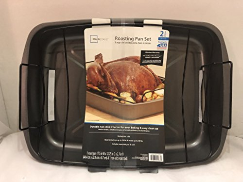 MAINSTAYS Roasting Pan Set (Non-Stick)