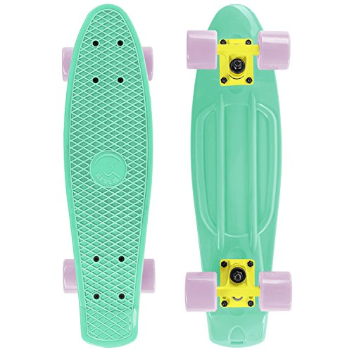 Cal 7 Complete Mini Cruiser | 22 Inch Micro Board | Vintage Skateboard for School and Travel (Mint)
