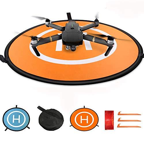 KINGWON 75cm RC Drone Landing Pad,Pieghevole Impermeabile Pad di Atterraggio pour DJI Mavic...