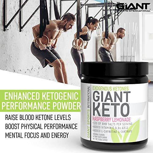 Giant Keto-Exogenous Ketones Supplement - Beta-Hydroxybutyrate Keto Powder Designed to Support Your Ketogenic Diet, Boost Energy and Burn Fat in Ketosis - Raspberry Lemonade - 15 Servings … 2