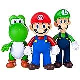 AINOLWAY 3pcs / Set Super Mario Toys - Figuras de Mario y Luigi - Figuras de acción de Yoshi y...